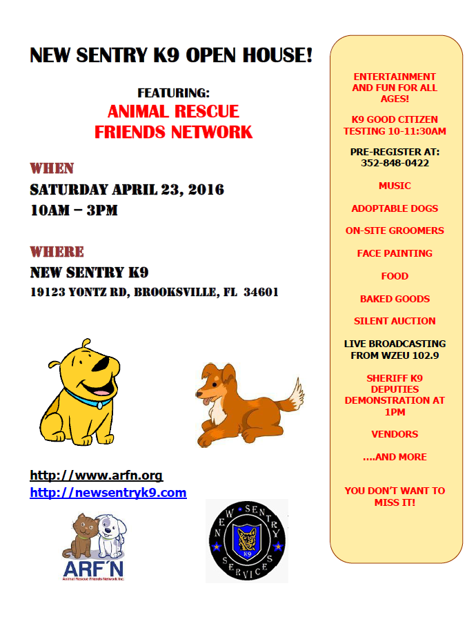 New Sentry K9 open house